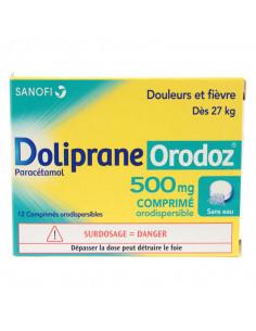 DolipraneOrodoz Paracétamol 500 mg 12 comprimés orodispersibles Doliprane - 1