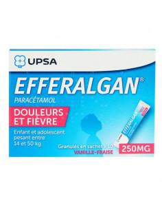 EFFERALGAN 250 mg Vanille-Fraise 10 sachets granulés