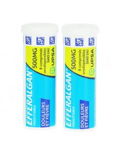 Efferalgan douleurs et fièvre 500mg. 16 comprimés orodispersibles sans eau.