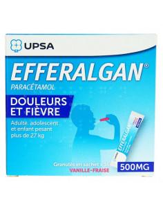 EFFERALGAN 500 mg Vanille-Fraise 16 sachets granulés