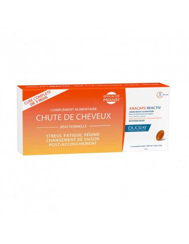 Ducray Anacaps Reactiv Chute de Cheveux Réactionnelle. 3x30 capsules Ducray - 1