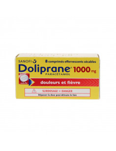 Doliprane 1000mg 8 comprimés effervescents sécables Doliprane - 1