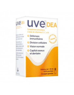 Uve DEA Complément Alimentaire Vitamines D, E, A. Compte-gouttes 10ml  - 1