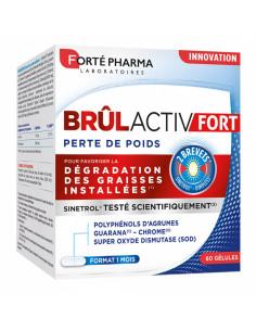 boite de 60 gélules brûlactiv fort forte pharma, format 1 mois