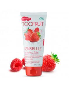 tube gelée de douche enfant bio sensibulle toofruit fraise framboise