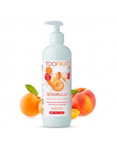 flacon pompe gelée de douche enfant bio sensibulle toofruit abricot pêche