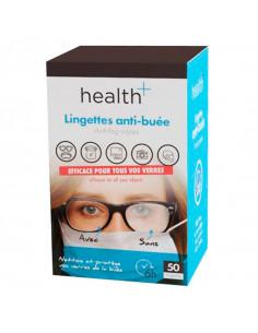 boite de 50 lingettes anti-buée Health +