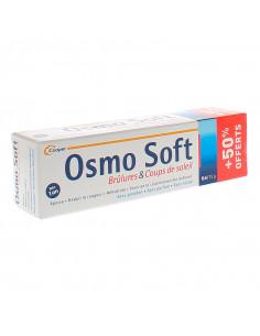 boîte du tube d'osmo soft gel brûlures et coups de soleil 50% offerts