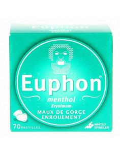 Euphon menthol maux de gorge 70 pastilles