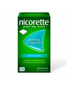 nicorette 2mg menthe glaciale sans sucre 105 gommes