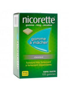 Nicorette 4mg, Classique Sans Sucre, 105 gommes