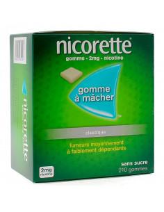 Nicorette 2mg, Classique Sans Sucre, 210 gommes