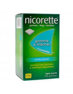 Nicorette 4 mg, Menthe Glaciale Sans Sucre, 105 gommes