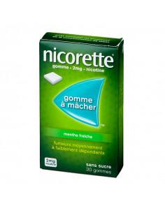 Nicorette 2mg, Menthe Fraîche Sans Sucre, Gommes