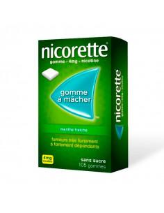 Nicorette 4mg, Menthe Fraîche Sans Sucre, Gommes