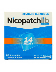 Nicopatch 14mg/24h, Sevrage tabagique, 28 patchs