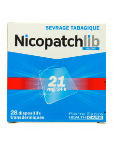 Nicopatch 21mg/24h, Sevrage tabagique, 28 patchs