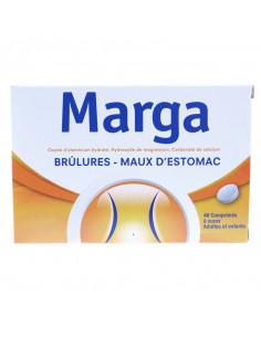 Marga, brûlures et maux d'estomac, 48 comprimés à sucer