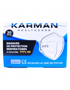 Masque filtrant FFP2 NR Karman Healthcare- 5 couches - Boîte de 20  - 1