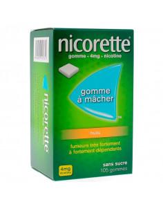 Nicorette 4mg, Fruits Sans Sucre, 105 Gommes
