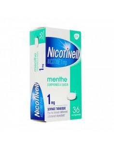 nicotinell menthe 1mg dépendance tabagique 36 comprimés à sucer