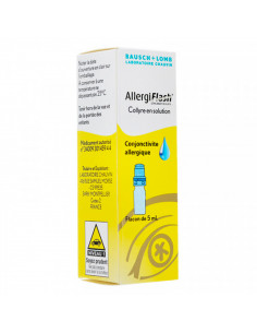 AllergiFlash 0.05%, anti-allergique, collyre, flacon multidoses de 5mL