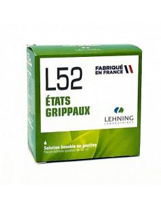 L52 Lehning, Etats Grippaux, Solution buvable en gouttes, flacon de 30mL