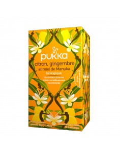Pukka Tisane Citron Gingembre Miel de Manuka Bio 20 sachets