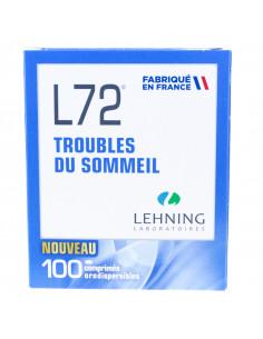 L72, Troubles Mineurs du Sommeil, 100 Comprimés Orodispersibles