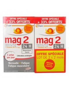 Mag2 24h Libération Prolongée Lot 2 x 2 mois nouvelle formule renforcée