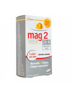 Mag2 24h Nervosité Fatigue Libération Prolongée Formule renforcée 45 comprimés