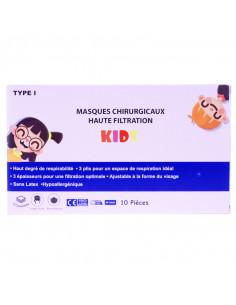 masques chirurgicaux enfant kids boite rose