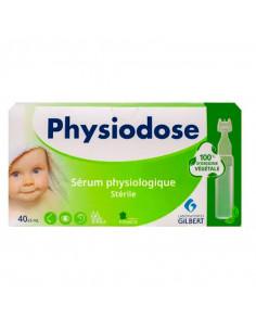 Sérum physiologique Physiodose 40 unidoses 5ml en plastique végétal
