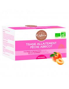 Gifrer Maman Tisane Alaitement Bio Pêche Abricot boîte rose de 20 sachets
