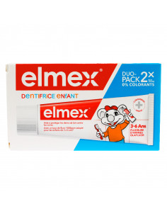 Elmex Dentifrice Enfant 3-6 ans Lot 2x50ml. duo-pack elmex orange enfant