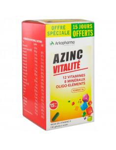 Azinc Forme et Vitalité 12 Vitamines 8 Minéraux Oligo-éléments Boite 150 gélules dont 15 jours offerts