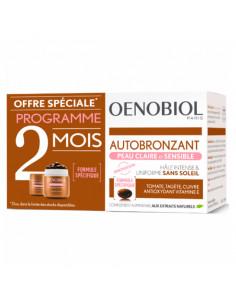 Oenobiol Autobronzant Peau Claire et Sensible Lot 2x30 capsules - Offre spéciale programme 2 mois