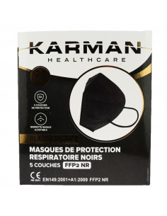 Masque FFP2 Noir Karman Healthcare