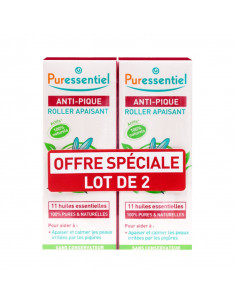Puressentiel anti pique roller apaisant lot promotion roll on rouge
