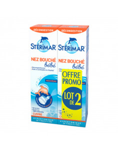 Spray Stérimar Bébé Nez Bouché Lot 2x100ml