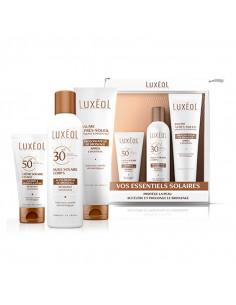 Luxeol Pack Solaire : crème solaire visage, huile solaire corps, baume après-soleil
