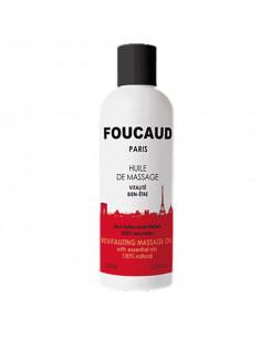 Foucaud huile massage vitalité bien-être flacon blanc rouge bouchon noir
