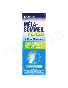 GOVital Méla-Sommeil Flash spray sublingual. 20ml