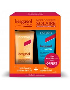 Bergasol Sublim Coffret Huile Solaire SPF20 125ml + Lait Après-soleil 100ml OFFERT