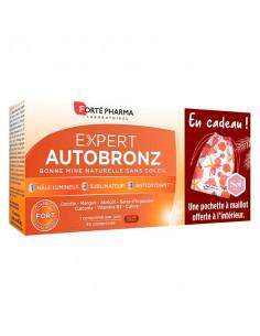 Forté Pharma Expert Autobronz. Offre spéciale 45 comprimés + 1 pochette à maillot OFFERTE