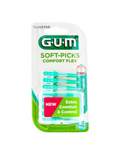 GUM Soft-Picks Comfort Flex Regular. x40 - Taille moyenne