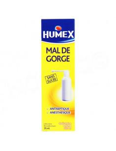 Humex Mal de Gorge Sans Sucre Arôme Citron. 35ml