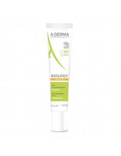 Aderma Biology Nutri crème bio visage tube blanc vert orange
