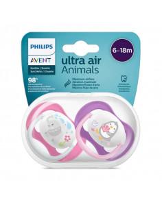 Avent Ultra Air Animals 6-18mois x2 éléphant et pingouin