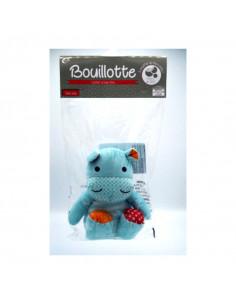 Cooper Bouillotte Confort et Bien-être- Perle de silice-Hippopotame, peluche, bleue